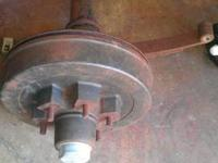I have this heavy Duty 6 bolt trailer Axle, electric
