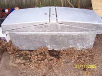I have a large Fiberglass truck tool box, base that