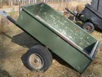 Heavy Duty Metal Utility Trailer. Approx 3' by 5'' Ball