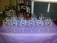 16 piece heavy duty wine goblets, NEVER USED. Chris
