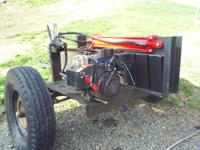 8HP SNOW KING ENGINE ELECTRIC OR PULL, RUNS GREAT , ,24