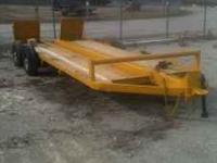 16 ft. heavy equipment trailer with new floor and