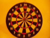Heavy Full Size Dart Board with Darts The brand is
