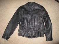 Very heavy leather women's size medium motorcycle
