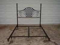 This is a sturdy full size head board.Comes with rails
