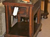 Heavy Wood End Tables  Prices (including mark-down