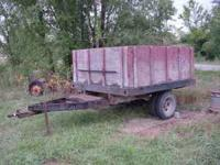 Heavy Duty Truck Bed Trailer with Grain Box Bed. Dual