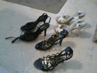 small white heels size 7.5 asking $5.00 small black