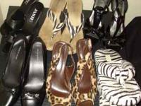 All shoes and heels $1 each all fit a 8.5 size foot,