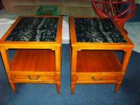 I am selling a pair of Hekman End Tables. Hekman has