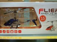 NEW IN BOX 3.5 RC HELICOPTER. READY TO FLY. BUILD IN