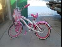 This girl bike is mainly unused and is in great