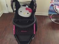 Nearly New Hello Kitty Jogger Stroller. You can