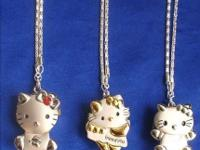 These are silver necklaces with hello kitty pendant