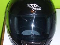 Street Legal Motorcycle Helmet Vega size