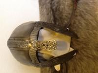 Embossed helmet used for re-enactments. Also called a