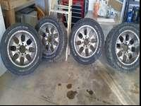 20 inch helo rims and 285 BFG AT tires tires have a