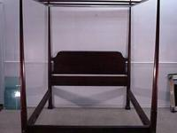 Solid mahogany queen size pencil post bed with canopy