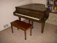Henry F Miller baby grand piano built in Boston in the