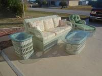 Lexington, Wicker By Henry Link Complete Living Room Or