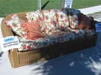 Two Henry Link Wicker Sofas Available For Great Price