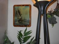Mallard duck decoupage Natural stained wood Marked