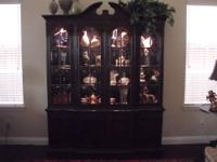 "Heritage House China Cabinet, 91"" high X 71"" wide X 14"""