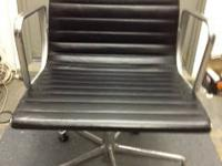 HERMAN MILLER EAMES SWIVEL ARM CHAIRS BLACK