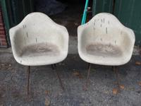 These chairs need some love! Sold as a pair only. Has