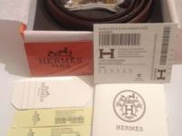 Hermes belt ONE HUNDRED % genuine from France leather