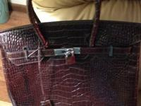 I have this gorgeous Hermes Brown Crocodile purse. It