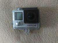 Hero 4 in clear waterproof case, brand new, $250 OBO