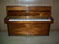 Herugel Upright/Console Piano, continental style in