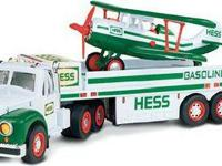 HESS TOY TRUCKS FOR SALE FULL SIZE AND MINIS AVAILABLE.