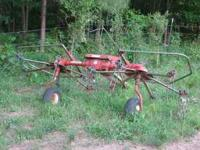 Heston 9 foot two rotor hay tedder. In good condition.