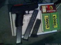 9+1 round Black Hi Point model JHP 45ACP with box,