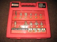 USED Hickory Woodworking Drill Bits - 12 Pieces in the