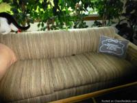 Inviting tweed hide-a-bed couch / sofa In practical