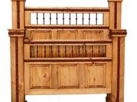 Hierro Texas Rustic Bedroom * Made of solid pine. *