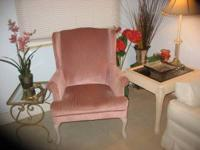 soft pastel rose pink fabric in beautiful condition.