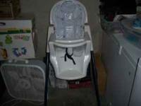 High chair in decent shape. Can't beat the price. Tray