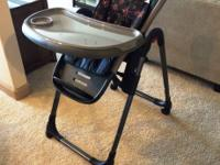 We are selling our highchair. it is too huge for our