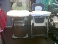 We have a few different styles of high chairs, we have