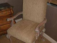 For sale is a custom made ultra high end side arm chair