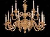 Very high end large French chandelier with scrolled