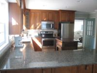 BEAUTIFUL KITCHEN CABINETS, ALL SOLID WOOD WITH ALL THE