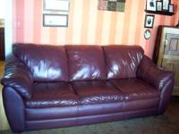 Beautiful high end leather couch and chair with