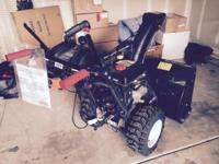 "Top of the line snowblower - 30"" wide, power steering,"