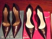 I HAVE 3 PAIRS OF SHOES, 2 ARE NINE WEST HIGH HEELS