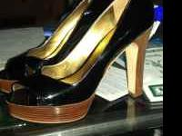 very nice pair of black marc fisher high heel shoes